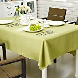 OstepDecor Premium Waterproof Tablecloth 100% Polyester Dinner Picnic Washable Table Cloth Home Decoration Solid Green - Round 70''