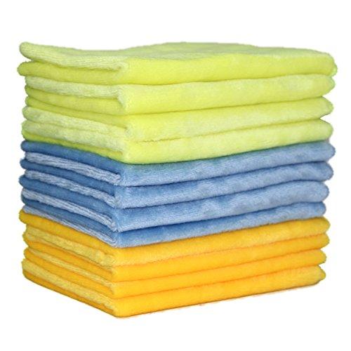 Polyte Microfiber Polishing Cloth, 12 x 16 in, 12 Pack