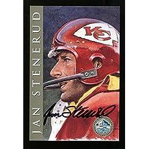 Jan Stenerud Signed Signature Series Card HOF Autographed Chiefs 25468