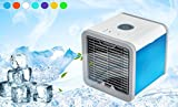 #6: Air Conditioner Arctic Air Personal Space Cooler,Humidifier, Purifier,3 in 1 USB Mini Portable Air Conditioner and 7 Colors Nightstand (white)