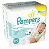 Pampers Sensitive 3x Refill Wipes - 192 per pack -- 4 packs per case.