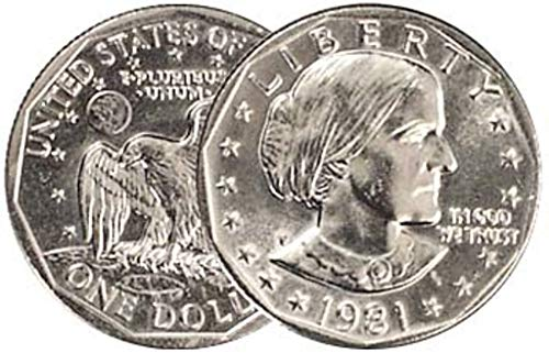 1981 P, D, S Susan B. Anthony Dollar 3 Coin Set Uncirculated