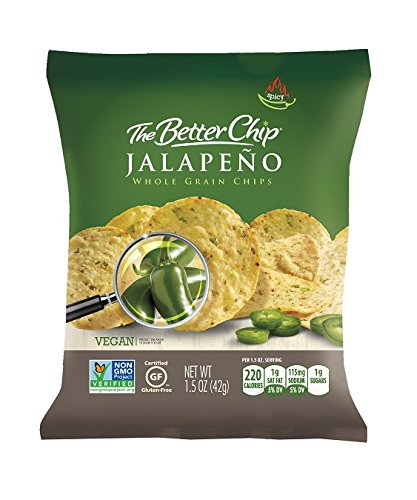 The Better Chip Whole Grain Chips, Jalapeno, 1.5 Ounce, (Pack of 27) by The Better Chip
