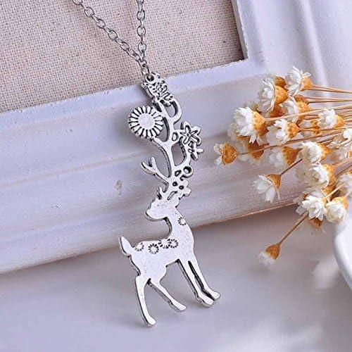 suchadaluckyshop Retro Silver Elephant Leopard Wing Pendant Necklace Women Long Sweater Chain Hot