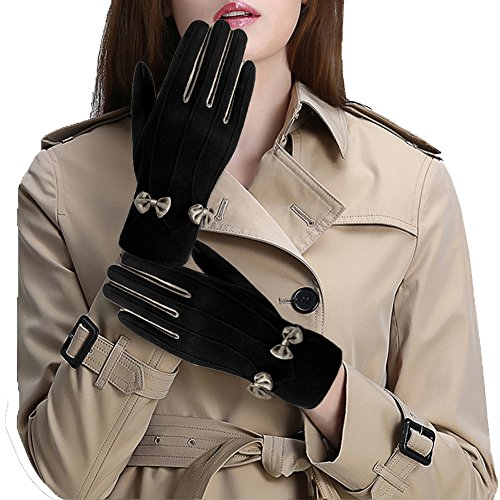 Informal Touch Nero Knot Gloves Vbiger Screen XL Shoes The Winter With Donna Charming pCqqHv1w