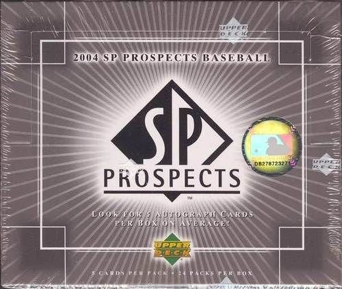 Prospects Baseball Cards Box - 2004 Upper Deck SP Prospects Baseball Factory Sealed Box - Look for 5 Autograph Cards Per Box