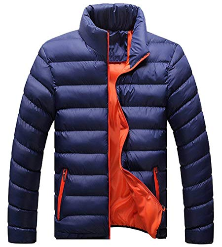 Apparel Jacket Down Fit Ultralight Long Warm Coat Collar Sleeve Down Thicken Stand Men's Outerwear Blue Quilted Jacket Coat Slim Packable E478ntqw