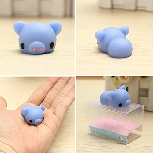 SICA Mochi Blue Piggy Squishy Squeeze Pig Cute Healing Toy Kawaii Collection Stress Reliever Gift Decor