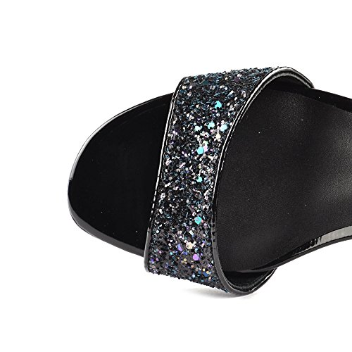 Ash Footwear Opium Midnight Blue Glitter Heeled Sandal Midnight Z06t45