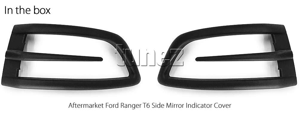 tunez Matte Black Turn Signal Indicator Side Mirror Protector Cover Guard For Ford Ranger Raptor T6 PX MK1 MK2 MK3 Black Matt