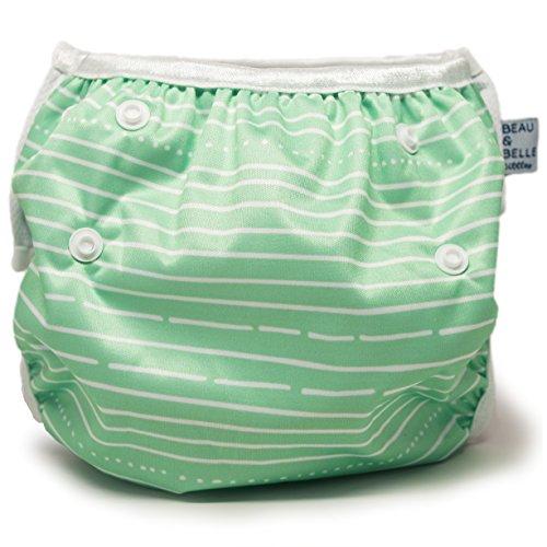 Nageuret Reusable Swim Diaper, Adjustable & Stylish Fits
