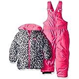 Pink Platinum Baby Girls Cheetah Jacket Print Snowsuit, Pink Cheetah, 12M
