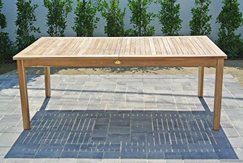 Willow creek designs teak expansion table 79 l x for Willow creek designs