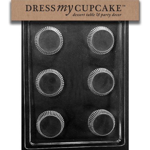 Dress My Cupcake DMCAO139SET Chocolate Candy Mold, X-Large Peanut Butter Cup, Set of 6
