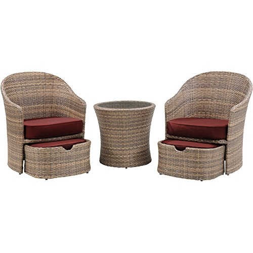 Hanover Seneca 5-Piece Chat Set Crimson red SEN-5PC-RED