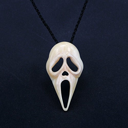 - Animal Bone Cool Ghost Jewelry Screaming Ghost Pendant Necklace