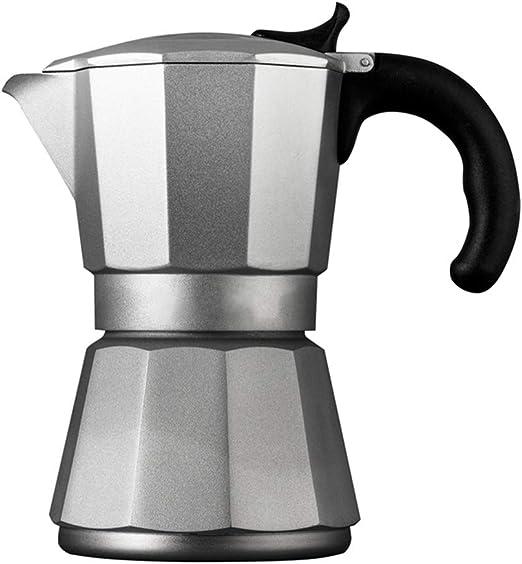 ODDINER Café Moka Pot Hogar Mocha Cafetera Cocina de Gas calentado por inducción Mocha Espresso Coffee Pot Pot Mocha ...
