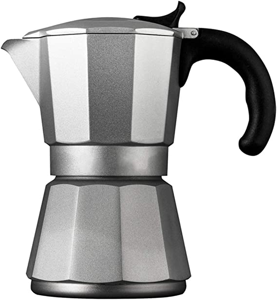 Cafetera Moka Hogar Mocha Mocha Cafetera Espresso Coffee Pot Pot Mocha Maker for Cocina de Gas Cocina de inducción Cafetera Espressos (Color : Silver, Size : 6 Cup): Amazon.es: Hogar
