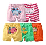 Baby PP Shorts 5 Pack, Cotton Printing Baby Pants for Summer (9 Months, Girl)