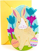 """Hallmark Easter Greeting Card with Sound (Felt Bunny Plays Song """"You Are My Sunshine"""")"""