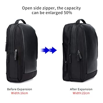 Amazon.com: GKPLY 15.6-inch Mens Computer Backpack, Anti-Theft Waterproof Leather Bag Men Mochila Fashion Backpack Travel USB Charging: Sports & Outdoors