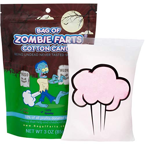 Halloween Idea For Kids (Bag Of Zombie Farts Cotton Candy Funny Novelty Gift for Unique Birthday Gag Gift for Friends, Mom, Dad, Girl, Boy Grandson Funny Easter Basket Stuffer Gag)