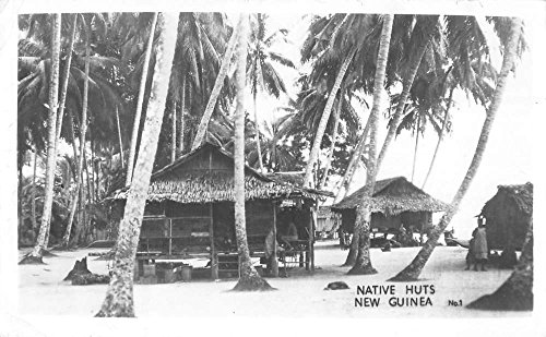 New Guinea Native Huts Beach Village Real Photo Antique Postcard K22522 (Postcard Native Huts)
