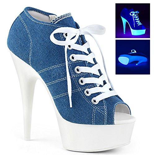 Pleaser Denim White Canvas Blue Delight 01 600sk neon 1rv4r