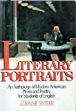 Literary Portraits, J. Donnie Snyder, 0838433340