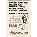 RelicPaper 1984 Sunbelt Airlines: If You're Ready for Friendly Fares, Sunbelt Airlines Print Ad