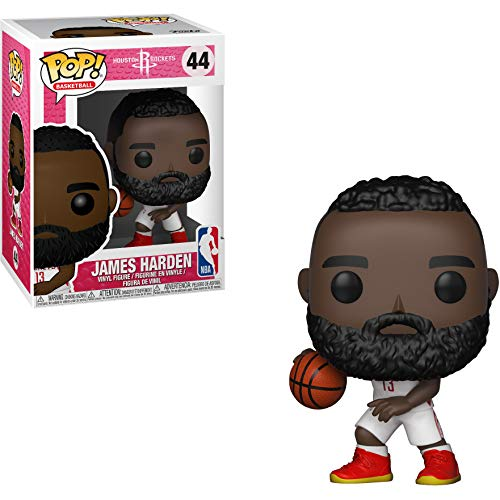 Funko James Harden [Rockets]: NBA x POP! Sports Vinyl Figure & 1 POP! Compatible PET Plastic Graphical Protector Bundle [#044 / 34448 - B] ()