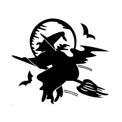 Ofanyia Halloween 3D murciélago Bruja Etiqueta de la Pared Vinilo ...