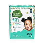 Seventh Generation Baby Wipes Refill, Free & Clear, 256 count