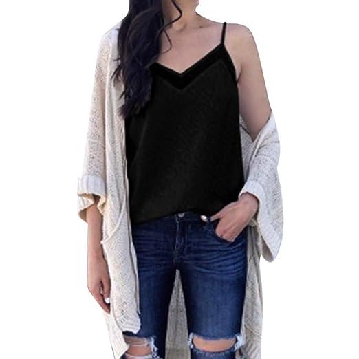 4b03fcd14035 Amazon.com: Redacel Fashion Vest,Women Summer Solid Color V Neck ...