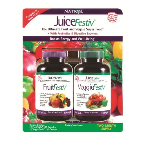 Plus Supplement Fruit - NATROL JUICEFESTIV FRUITFESTIV VEGGIEFESTIV 2 PK 240 JUICE FESTIV FRUIT VEGGIE