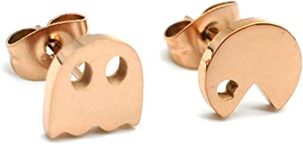 Amazon Com 14k Rose Gold Plated Stud Earring Dainty Earrings Minimalist Earrings A Pair With Gift Box Game Earrings Stud Earrings Pac Rg Sports Outdoors