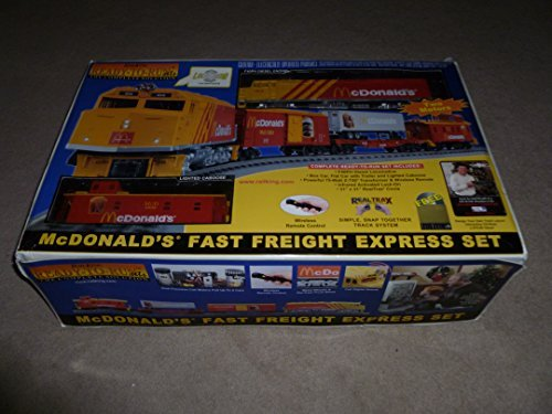RailKing Limited Edition McDonald's Fast Freight Express Train Set with F40PH Diesel (Diesel Freight Set)