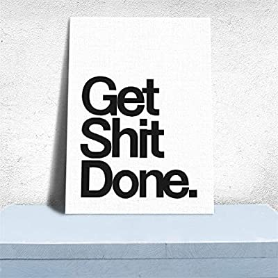 QISHENG Get Shit Done Quote Canvas Prints Wall Decals Poster Home Decor Picture, Unframeless : Baby
