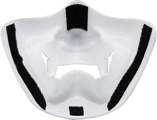 Blanc Shumo Costume dhalloween Cosplay Carie des Dents D/éMon Diabolique Kabuki Samurai Demi Couverture Masque Partie Effrayant D/éCoration