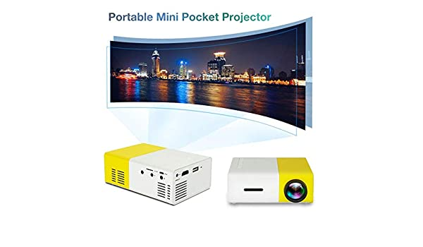 Mini proyector LED portátil, proyector de video de 600 lúmenes ...