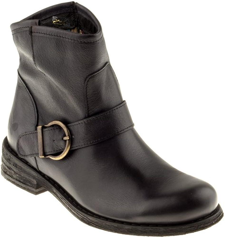 Felmini - Zapatos para Mujer - Enamorarse com Gredo A946 - Botas Classic - Cuero Genuino - Negro