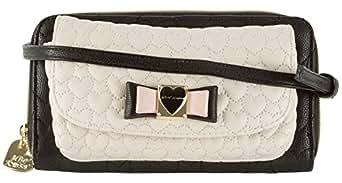 Betsey Johnson Be My Honey Buns Wallet on String - Cream