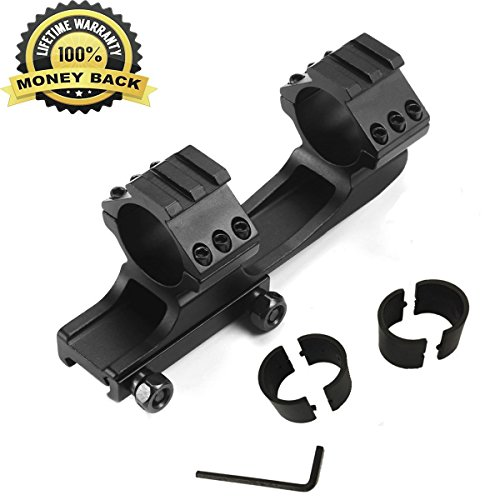 Picatinny Rail Scope Mounts (Twod Rifle Scope Mount Rings 1'' / 30mm Cantilever for 20mm Picatinny Rail Nikon Leupold Vortex Burris and Other Optics)