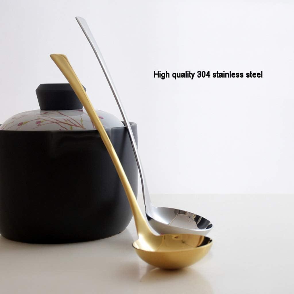 langlebiges Geschirr -11,4 Zoll Sch/öpfl/öffel//Saucenl/öffel gro/ßer L/öffel Color : Silver K/üchenkelle Gold Edelstahl Sch/öpfl/öffel mit langem Griff L/öffel