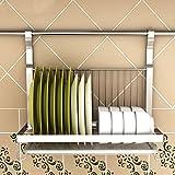 Asunflower Dish Drain Rack, Foldable Stainless Steel Dish Drying Holder Wall Mount Organizer - Dish Rack