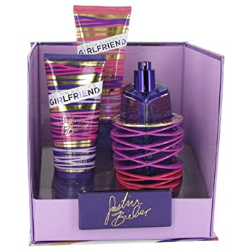 Girlfriend by Justin Bieber Women s Gift Set — 3.4 oz Eau De Parfum Spray 3.4 oz Body Lotion 3.4 oz Shower Gel – 100 Authentic
