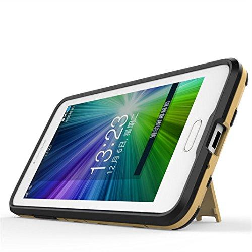 Samsung Galaxy J3 Funda, Litastore Combo Híbrido Resistente los Golpes Delgada Armadura Defensor TPU Parachoques Soporte para Samsung Galaxy J3 - Azul Plata