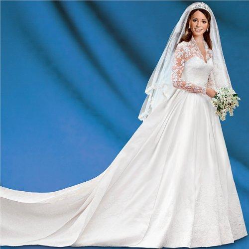 Kate Middleton Porcelain Bride Doll | Princess Catherine Porcelain Wedding Doll Award-Winning 16-inches by The Ashton-Drake Galleries