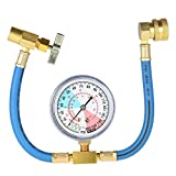 KKmoon AC R134A Car Auto Air Conditioning Refrigerant Recharge Measuring Hose Gauge Kit