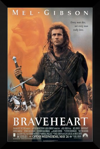 ArtDirect Braveheart FRAMED 27x40 Movie Poster: Mel Gibson